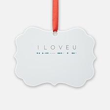 I Love You in Morse Code Alphabet Ornament