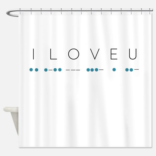 I Love You in Morse Code Alphabet Shower Curtain