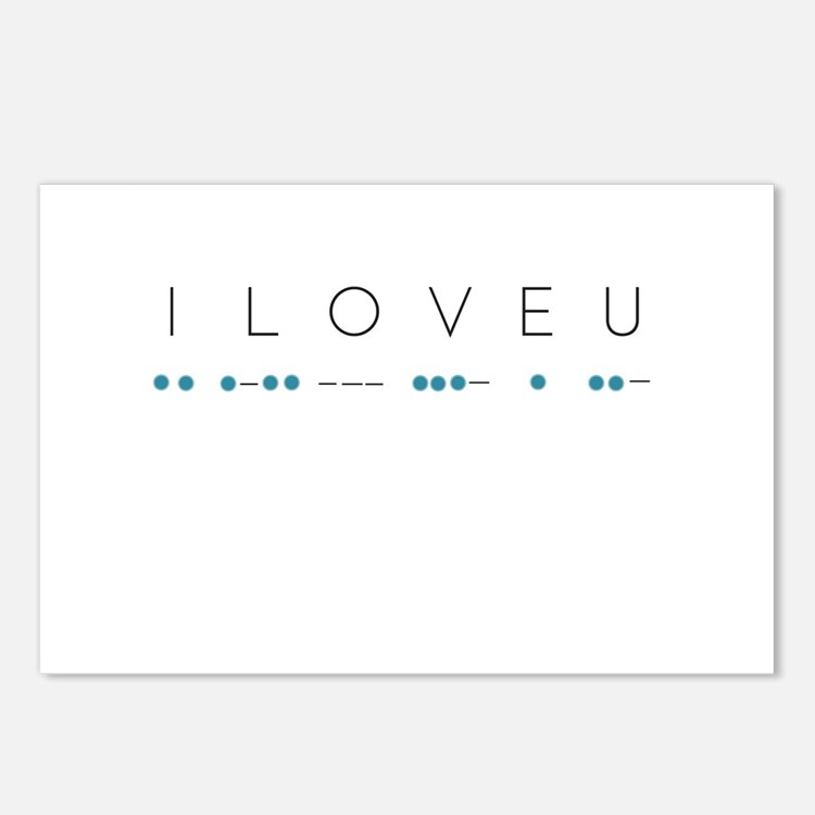 I Love You in Morse Code Postcards (Package of 8)