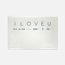 I Love You in Morse Code Alphabet Magnets