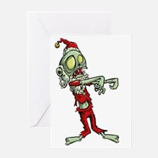 zombie christmas santa claus Greeting Cards