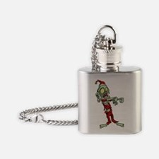zombie christmas santa claus Flask Necklace