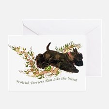 Scottish Terriers run like th Greeting Card