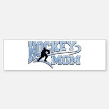Hockey Mom Athletic Tail Bumper Bumper Bumper Sticker
