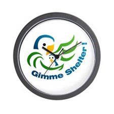 Gimme Shelter! -  Wall Clock