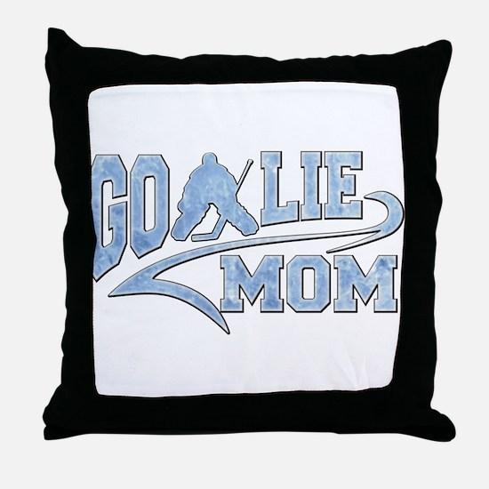 Hockey Goalie Mom Athletic Tail Throw Pillow