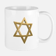 gold hanukkah star of david Mugs