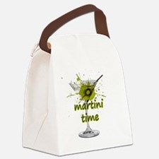 Funny Martini Canvas Lunch Bag