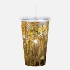 Aspens and Sunshine Acrylic Double-wall Tumbler