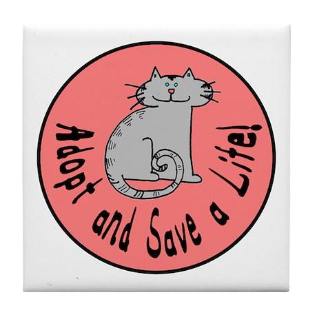 Adopt and Save a Life! Cat Tile Coaster