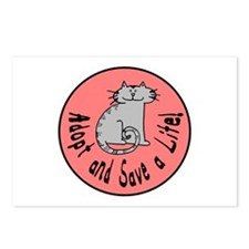 Adopt and Save a Life! Cat Postcards (Package of 8