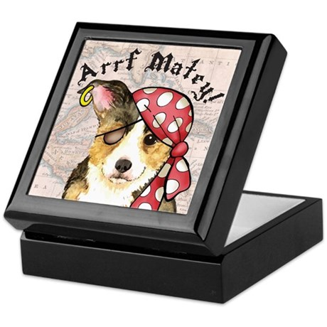Welsh Corgi Pirate Keepsake Box