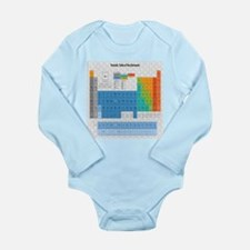 Periodical Table Of El Long Sleeve Infant Bodysuit