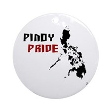 Pinoy Pride - back Ornament (Round)