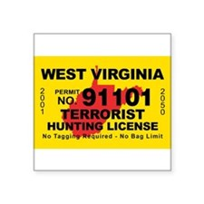"Terrorist hunting Square Sticker 3"" x 3"""