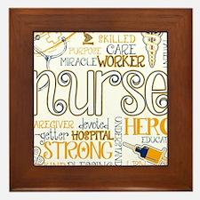 Cute Nurse Framed Tile