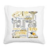 Nurse Square Canvas Pillows