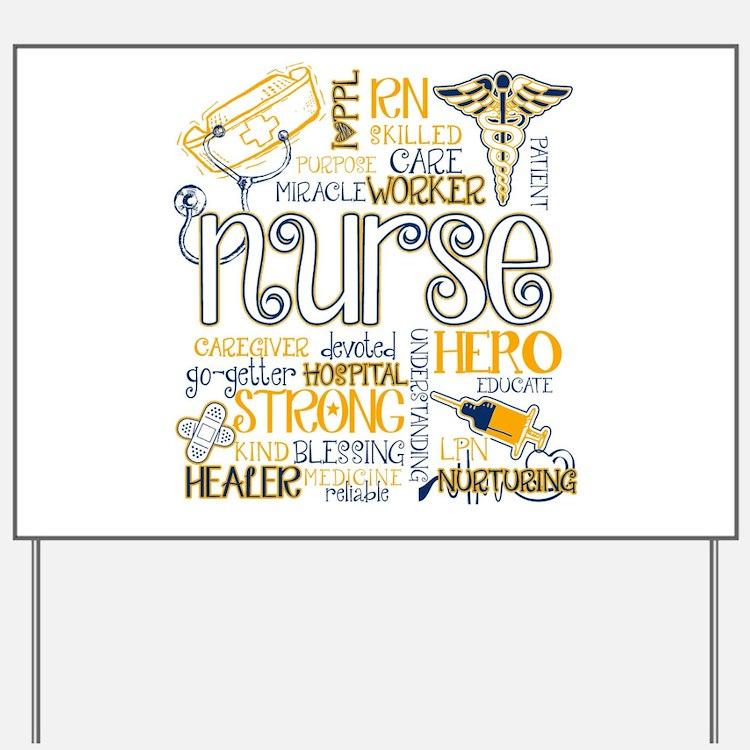 Cute Nurse Yard Sign