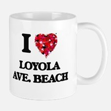 I love Loyola Ave. Beach Illinois Mugs