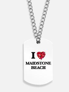 I love Maidstone Beach New York Dog Tags