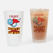 Cute Super hero dad Drinking Glass
