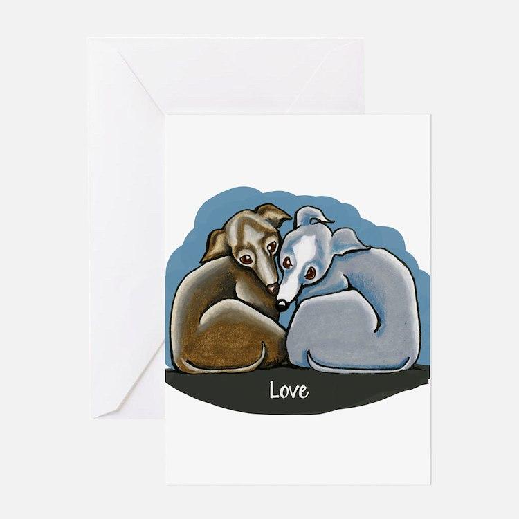 Cute Italian greyhound Greeting Card