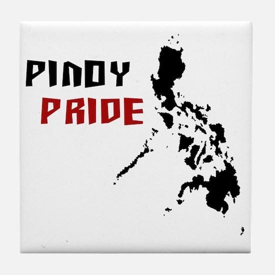 Pinoy Pride - back Tile Coaster