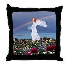 December Angel : Throw Pillow
