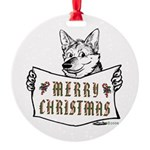 Merry Christmas Dog Ornament