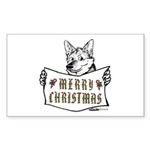 Merry Christmas Dog Sticker