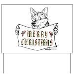 Merry Christmas Dog Yard Sign