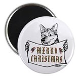 Merry Christmas Dog Magnets