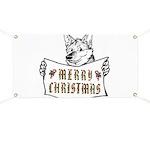 Merry Christmas Dog Banner