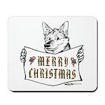 Merry Christmas Dog Mousepad