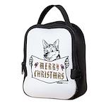 Merry Christmas Dog Neoprene Lunch Bag