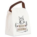 Merry Christmas Dog Canvas Lunch Bag