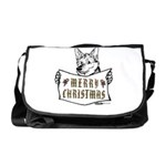 Merry Christmas Dog Messenger Bag