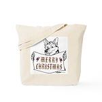 Merry Christmas Dog Tote Bag