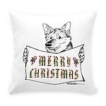 Merry Christmas Dog Everyday Pillow