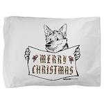 Merry Christmas Dog Pillow Sham