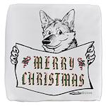Merry Christmas Dog Cube Ottoman
