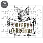 Merry Christmas Dog Puzzle