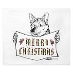 Merry Christmas Dog King Duvet