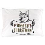 Merry Christmas Dog Pillow Case