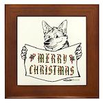 Merry Christmas Dog Framed Tile