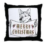Merry Christmas Dog Throw Pillow