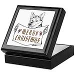 Merry Christmas Dog Keepsake Box