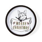 Merry Christmas Dog Wall Clock