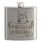 Merry Christmas Dog Flask