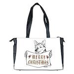 Merry Christmas Dog Diaper Bag
